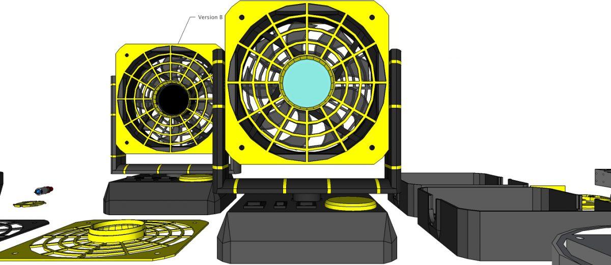 Desktop Cooling FAN & LED Light – DeskFAN