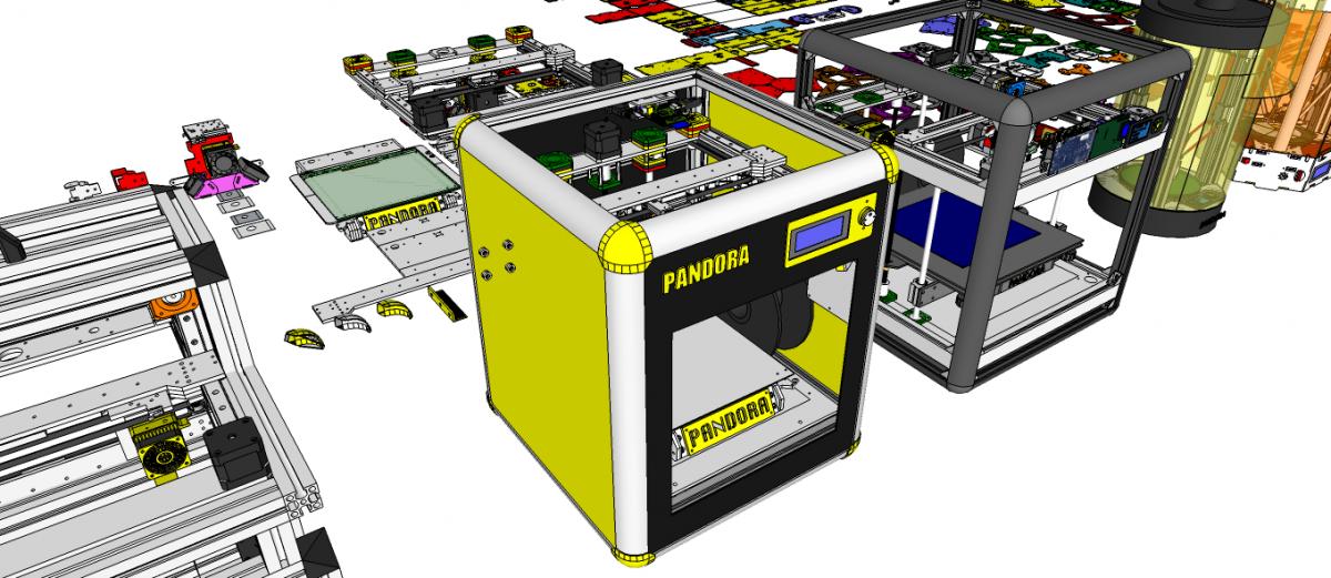 DIY 3D Printer PANDORA DXs