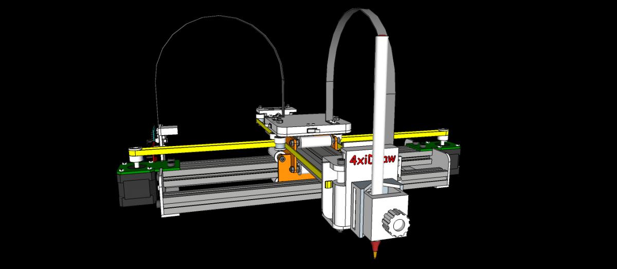 Drawing Machine - 4xiDraw V1 - Design Concept - 20180727