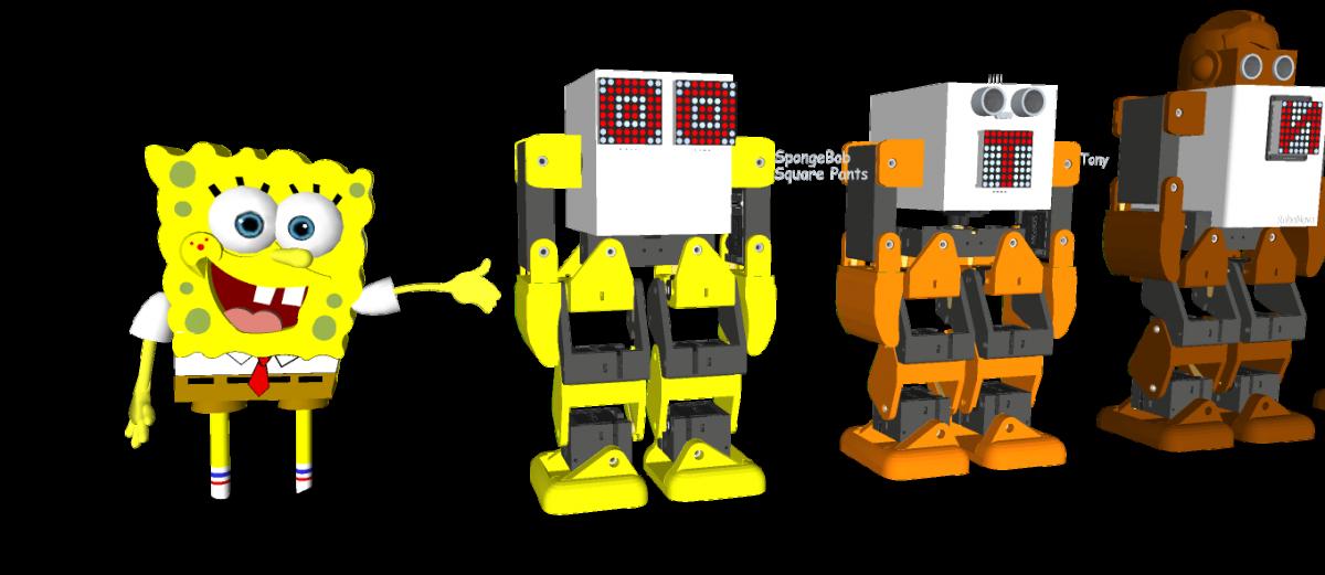 3D Printed Humanoid Robot – Robonoid – LineUp – 20180621