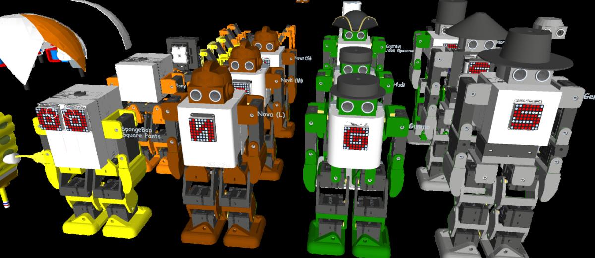 3D Printed Humanoid Robot – Robonoid – Design concept – 20180619