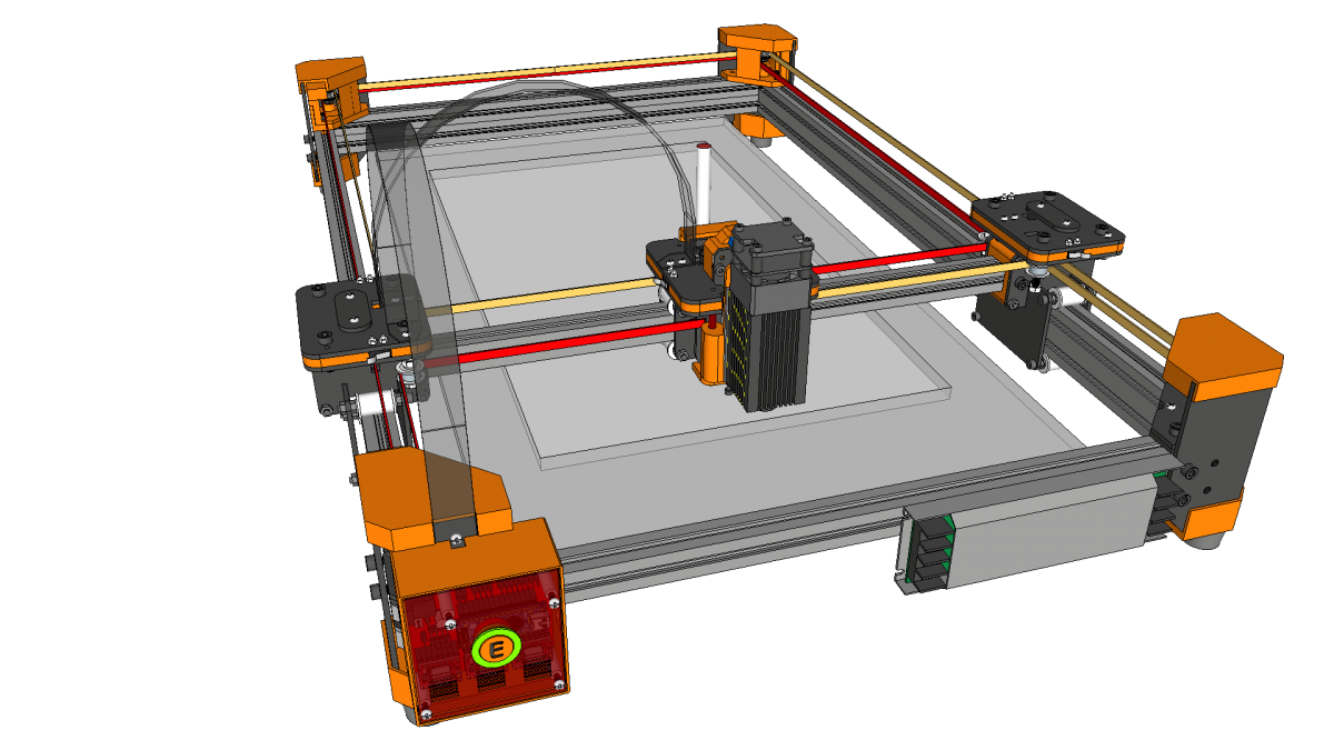 drawMachine eX (CoreXY) - Laser Cutter and Engraver - Design Concept - 20190309