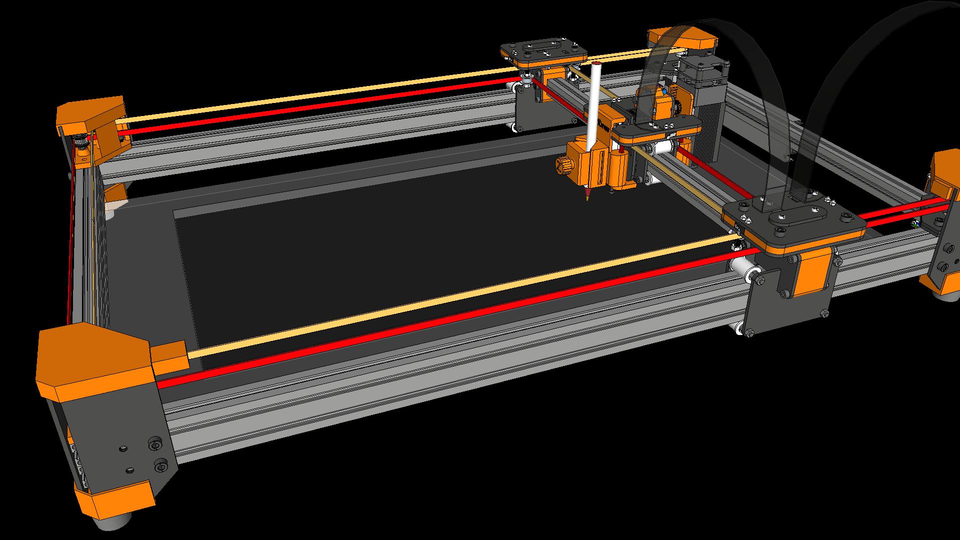 drawMachine eX (CoreXY) – Laser Cutter and Engraver – Design