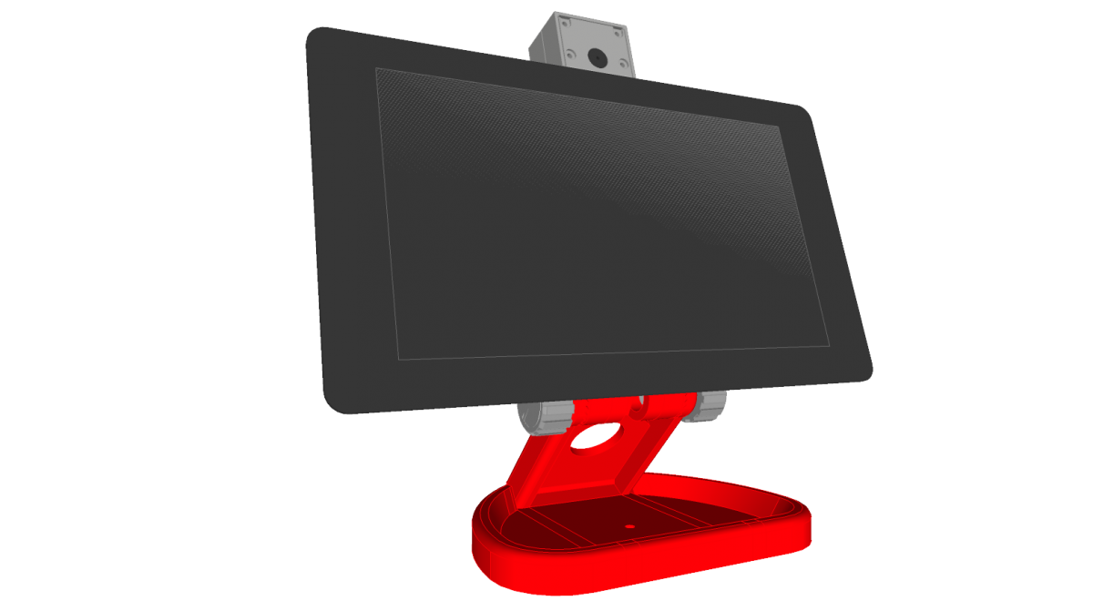 PiMac – Raspberry Pi 7 Inch Touch Screen Stand (with Camera) – Upgrade